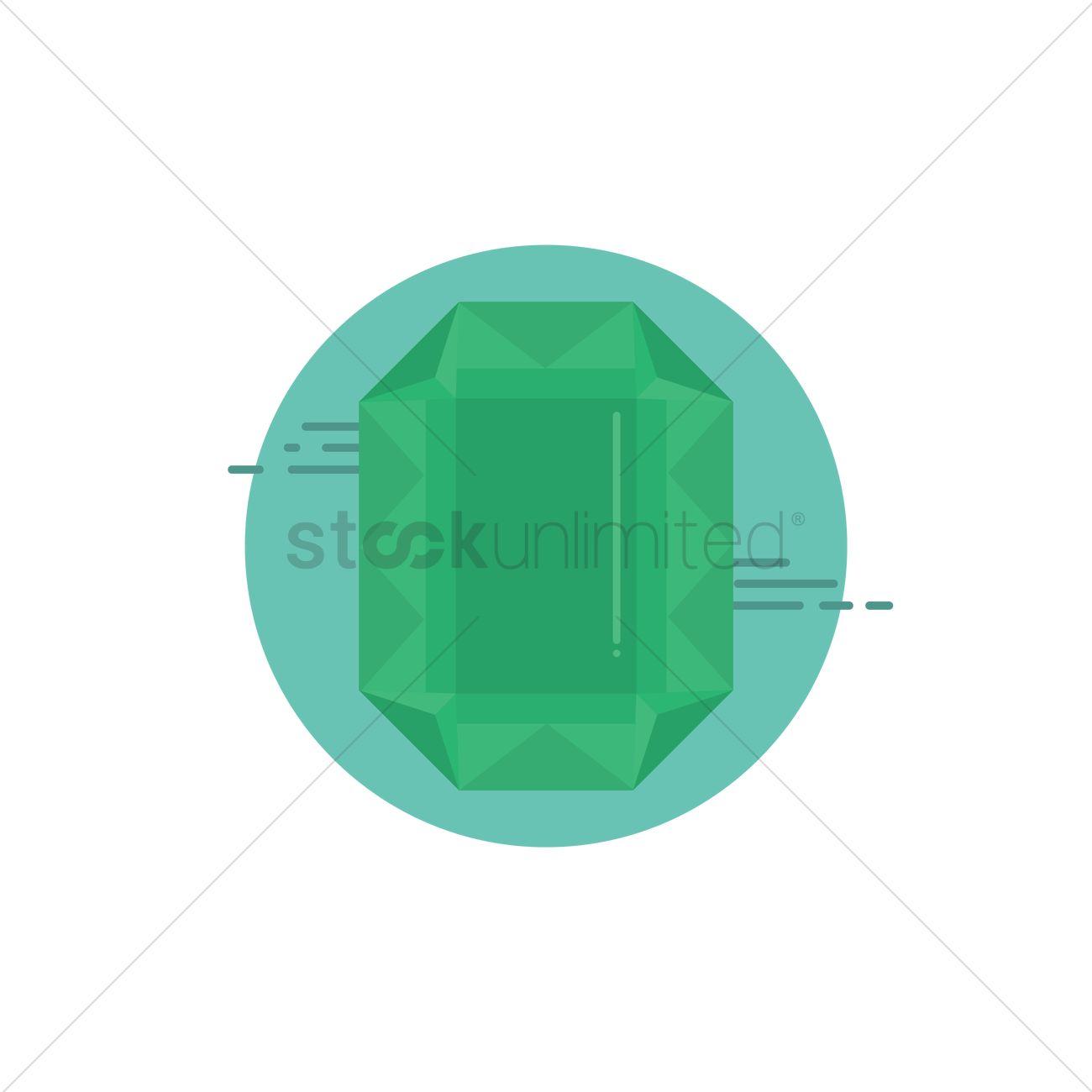 1300x1300 Green Emerald Vector Image