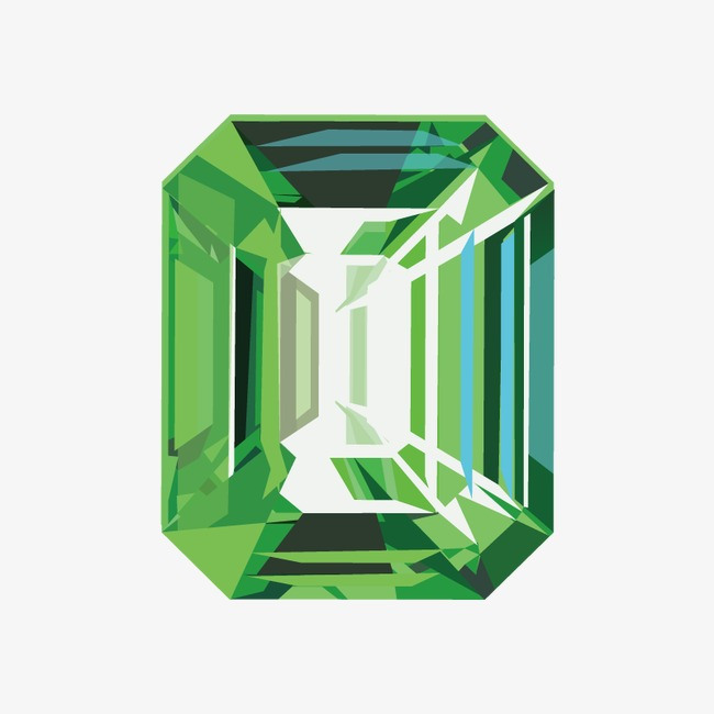 650x650 Hand Painted Emerald Vector, Emerald, Vector Gem, Jewelry Png And