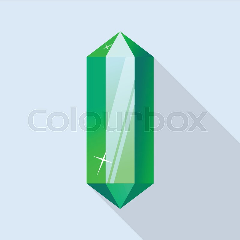 800x800 Part Of Emerald Icon. Flat Illustration Of Part Of Emerald Vector