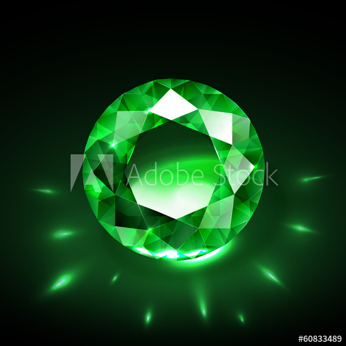 500x500 Realistic Emerald Vector