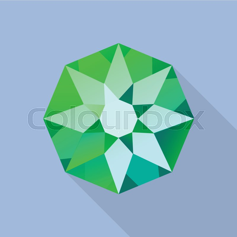 800x800 Star Emerald Icon. Flat Illustration Of Star Emerald Vector Icon