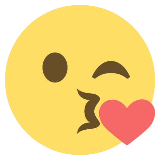512x512 Face Throwing A Kiss Emoji Emoticon Vector Icon Free Download