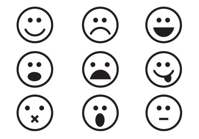 700x490 Free Emoticon Set Vector
