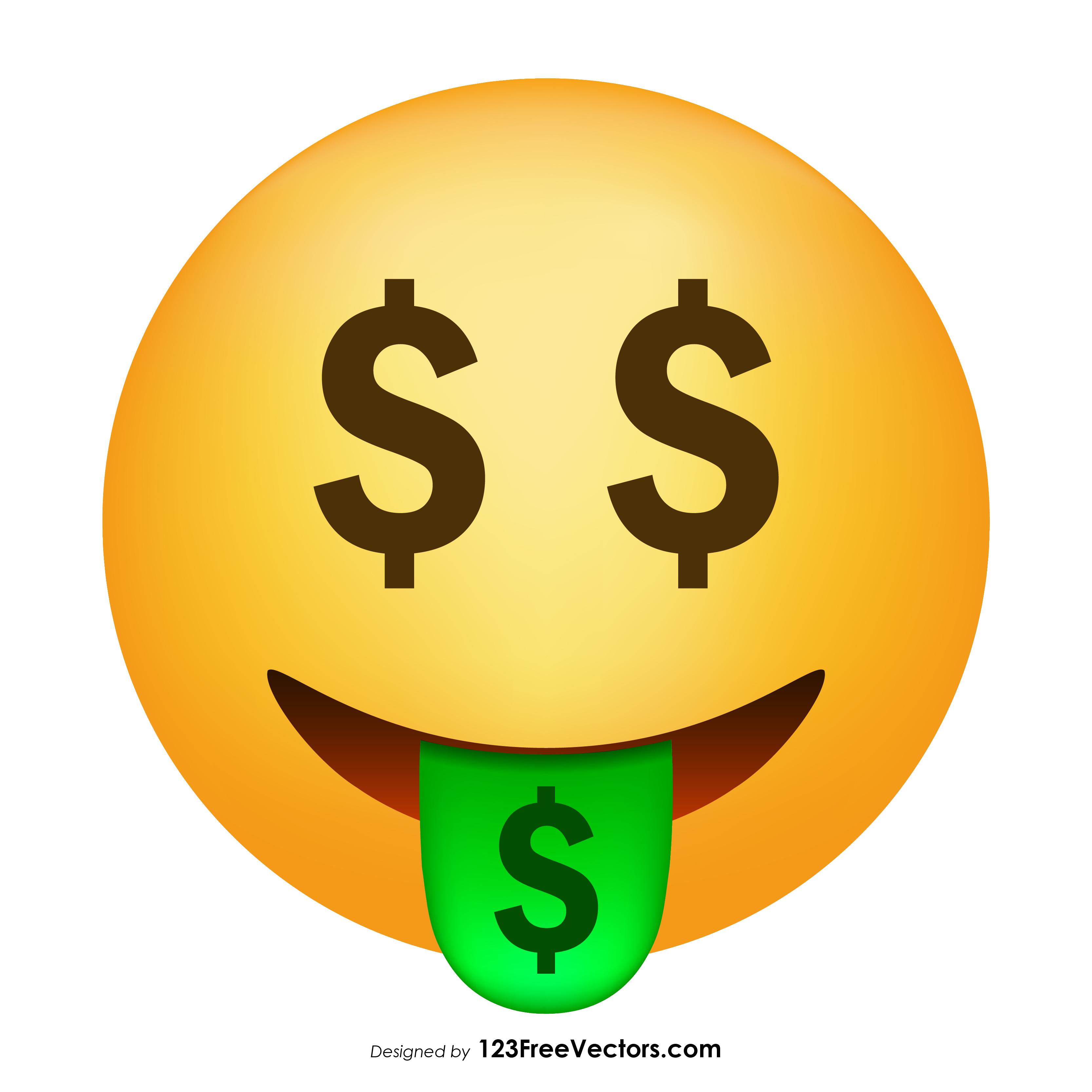 3333x3333 Money Mouth Face Emoji Vector 123freevectors