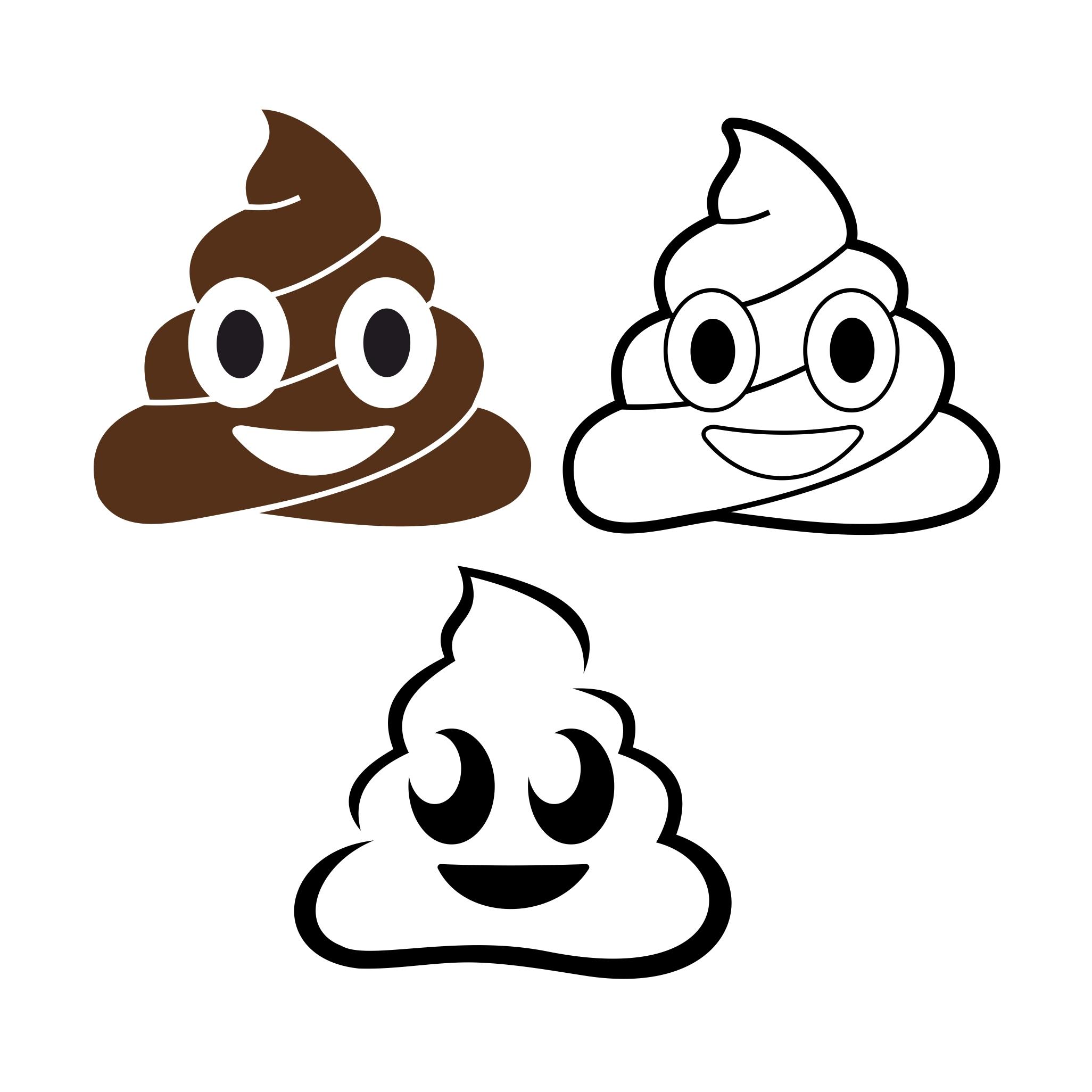 2052x2052 Poop Emoji Design Svg Dxf Eps Png Cdr Ai Pdf By Vectordesign On Zibbet