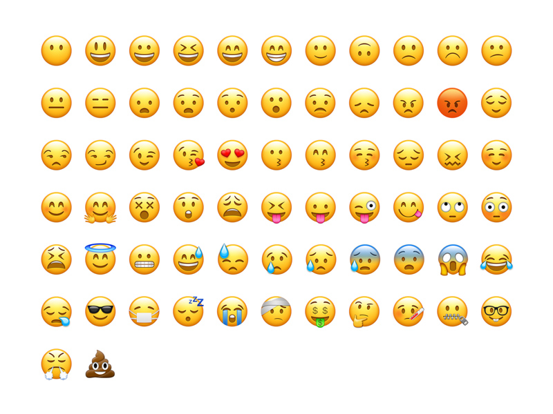 800x600 Emoji Vector Freebie