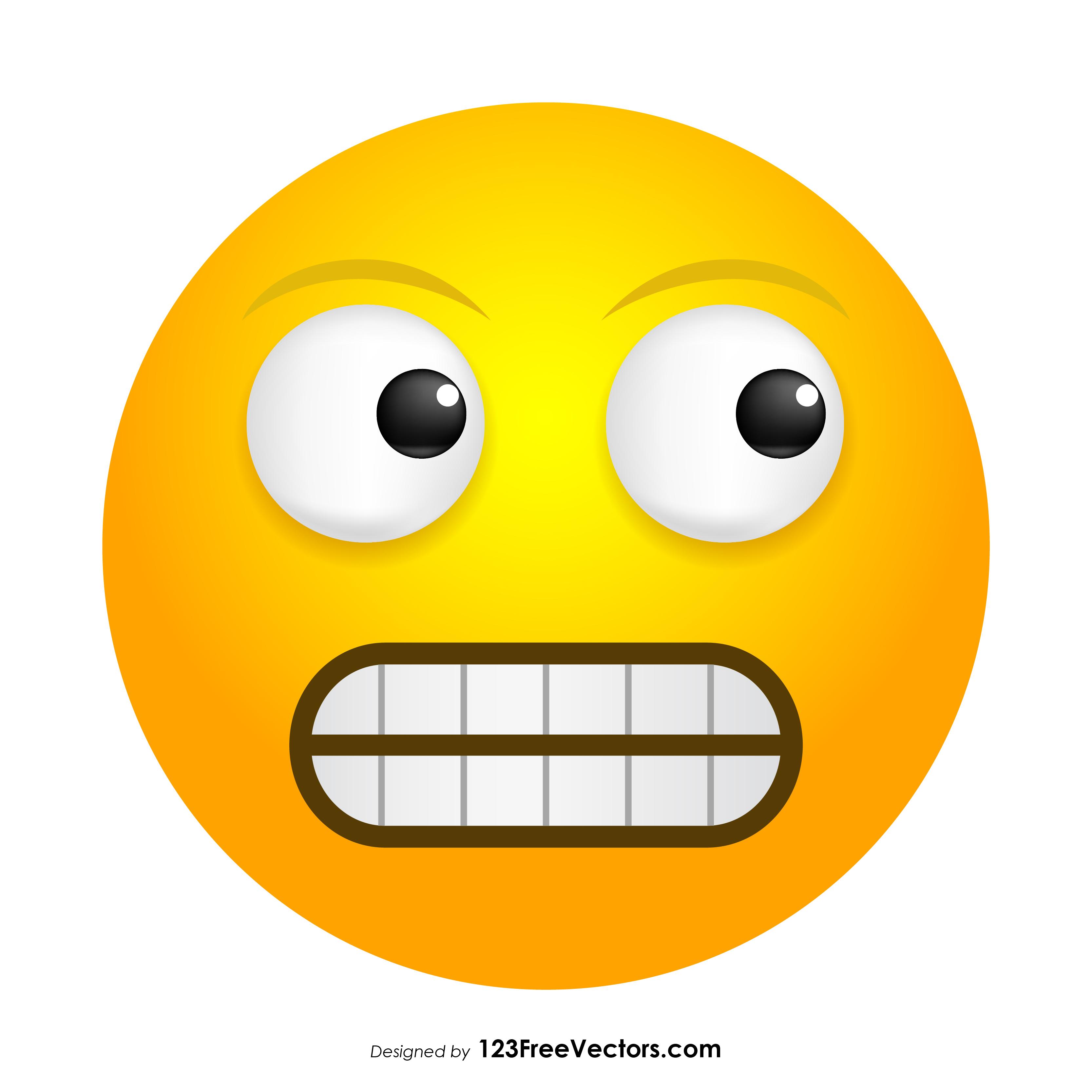 3333x3333 Grimacing Face Emoji Vector Free 123freevectors