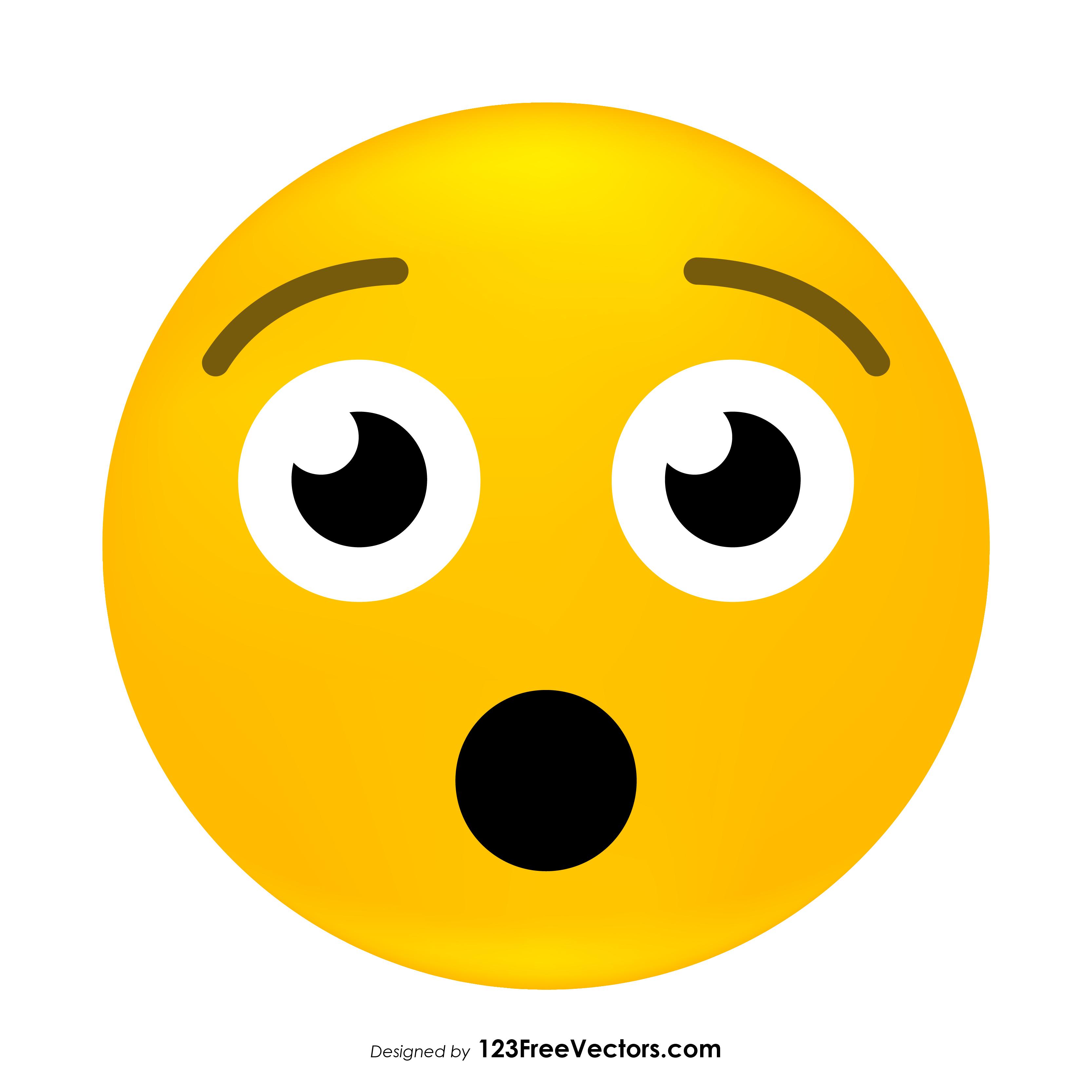 3333x3333 Hushed Face Emoji Vector Free 123freevectors