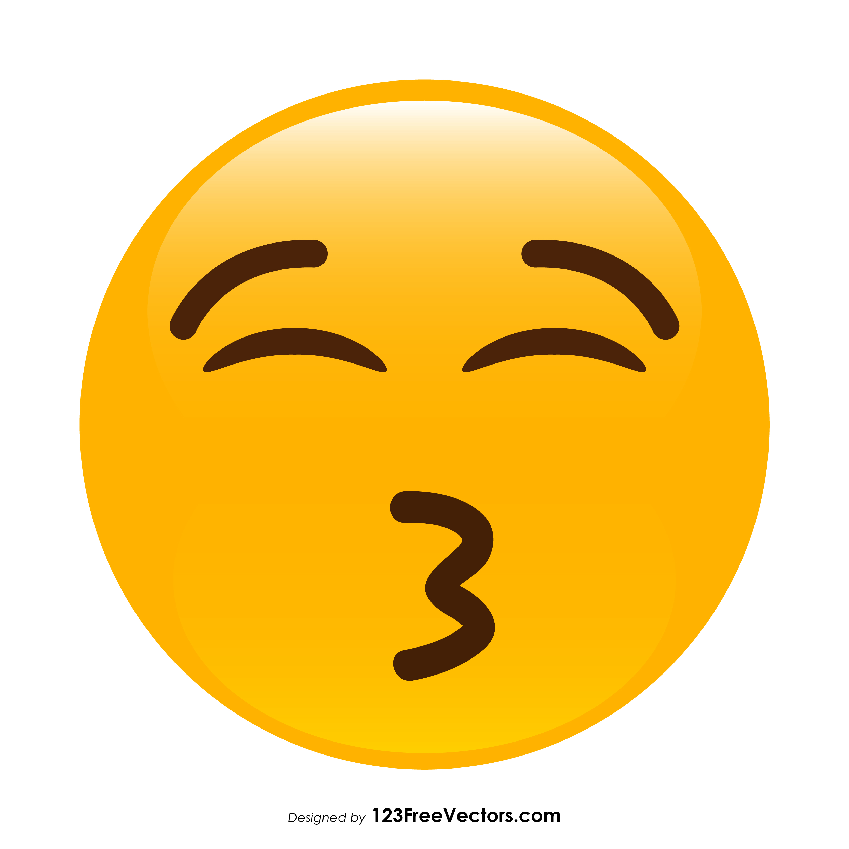3333x3333 Kissing Face With Closed Eyes Emoji Vector Free 123freevectors