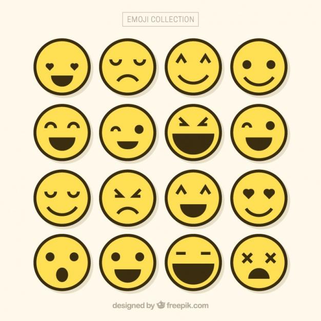 626x626 Minimalist Set Of Emojis Vector Free Download
