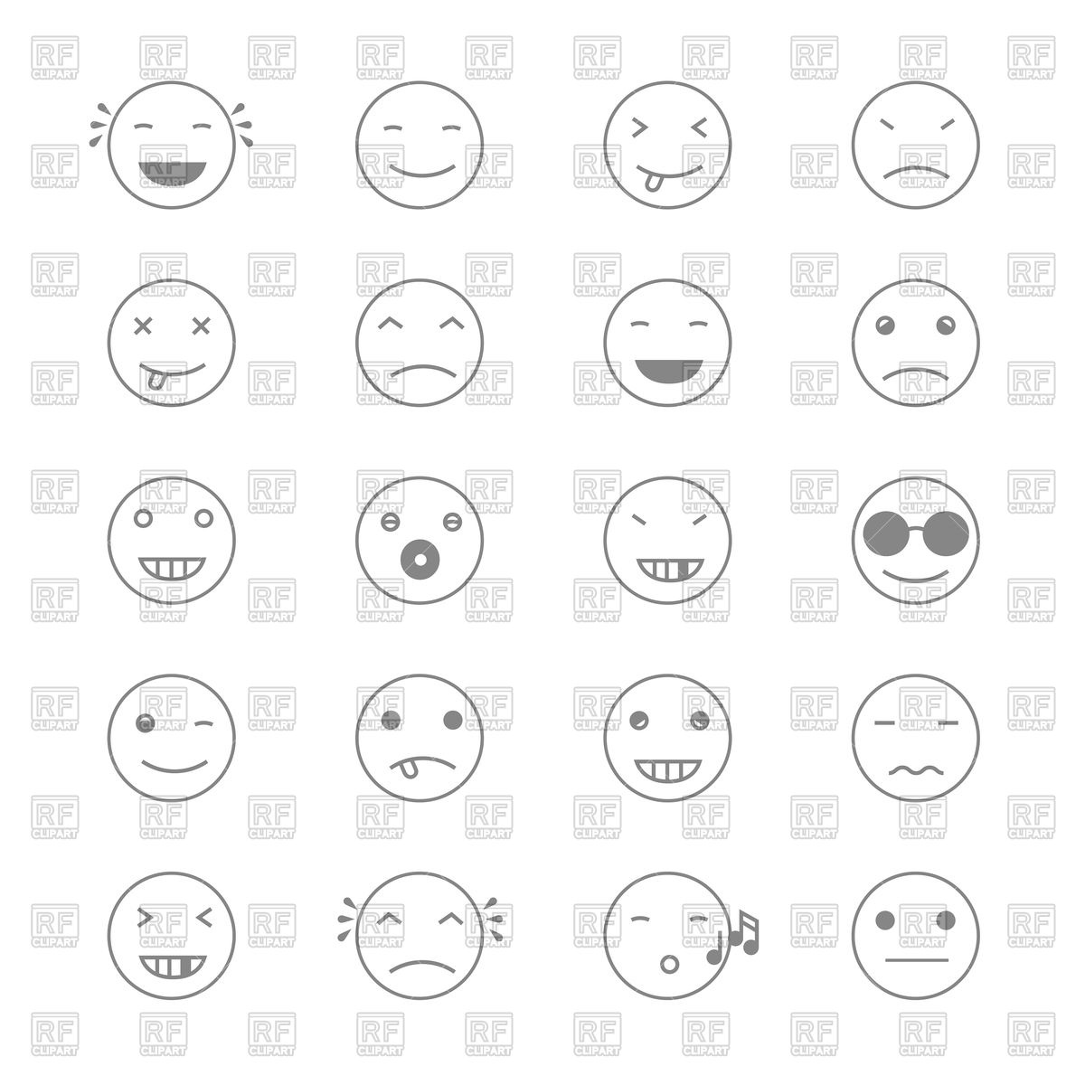 1200x1200 Set Of Emoji Vector Image Vector Artwork Of Icons And Emblems