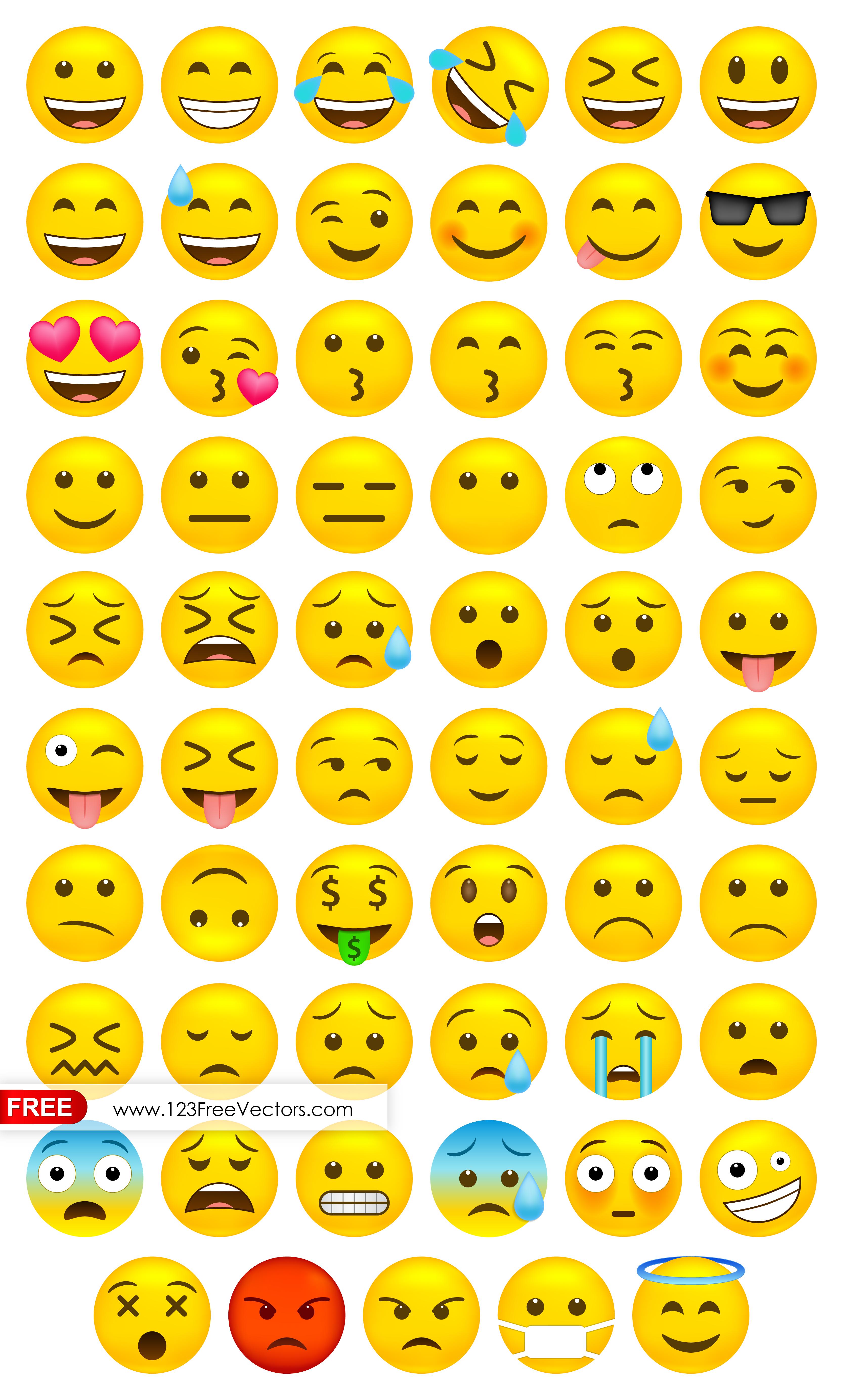 3333x5532 Whatsapp Emoji Vector Free Download 123freevectors