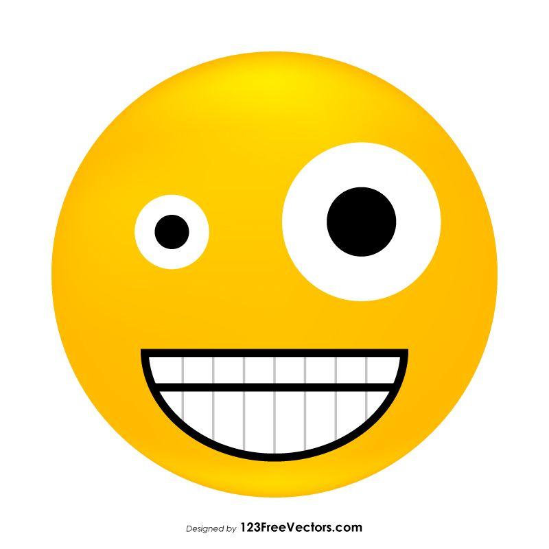 800x800 Zany Face Emoji Vector Free Emoji Emoji, Free