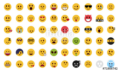 500x300 Complete Flat Emoji Set Stock Image And Royalty Free Vector Files