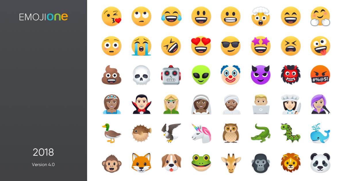 1200x630 Emojione 4.0 Simple Emoji Licensing