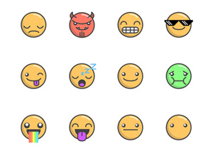 300x216 Emoticons Free Vector Pack Graphicburger