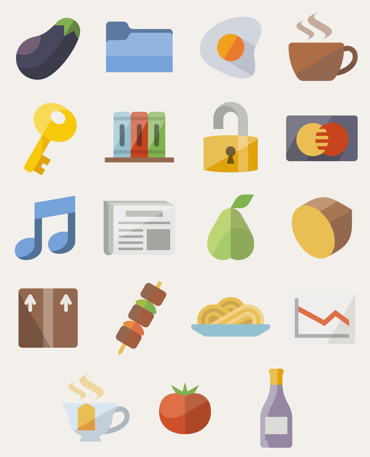 1200x1480 Flat Emoji List Vector Pack