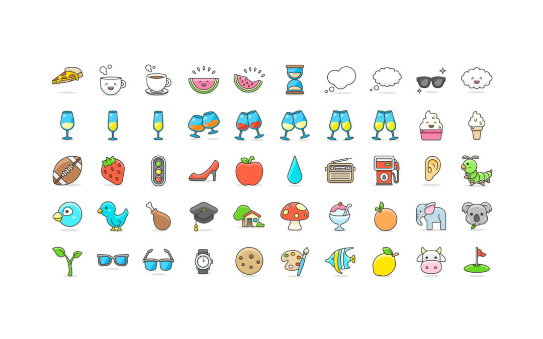 1080x675 Pack Of 100 Vector Cute Emoji