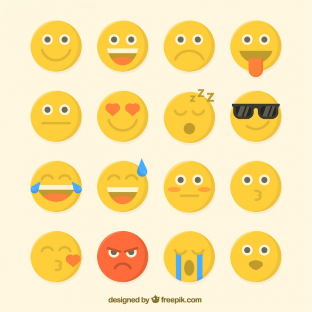626x626 Pack Of Great Flat Emojis Vector Free Download