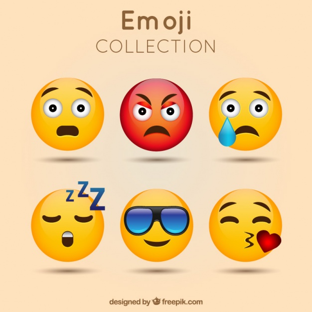 626x626 Awesome Emoticon Pack Vector Free Download