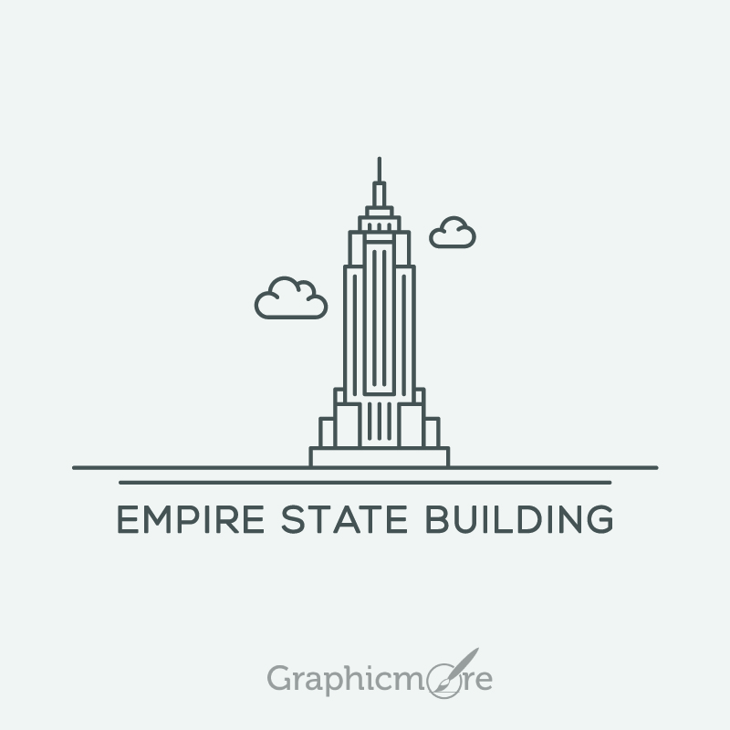 800x800 Empire State Building Vector File Free Download By Graphicmore