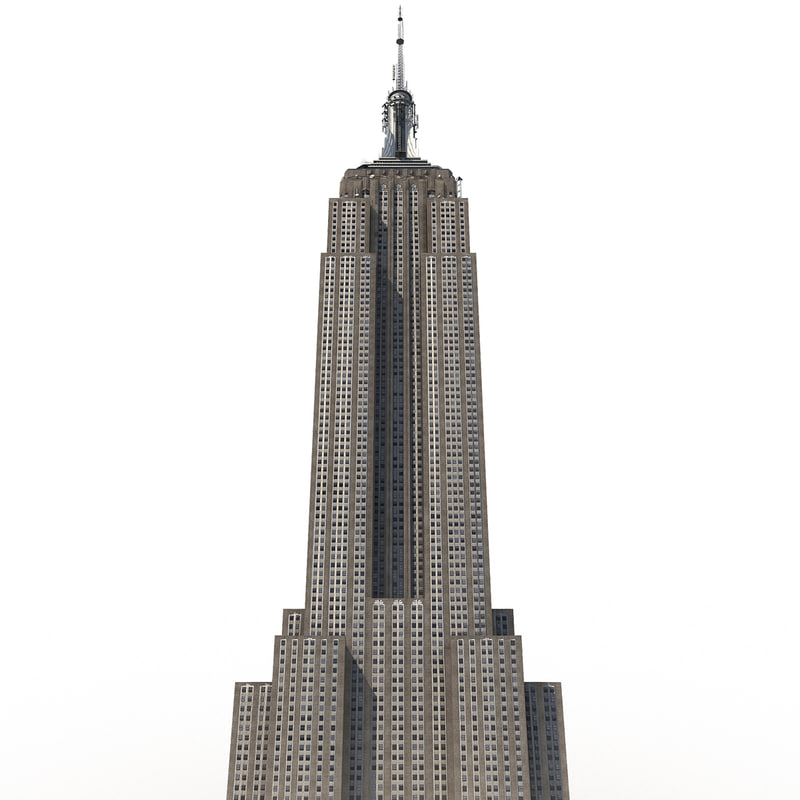 800x800 3d Empire State Building Low Poly Model