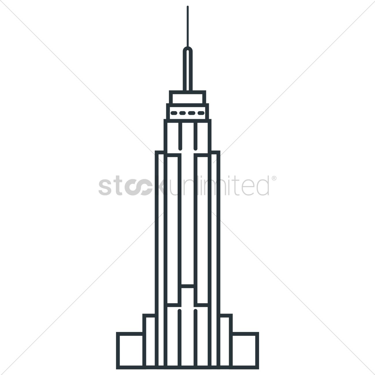 1300x1300 Empire State Building Vector Image