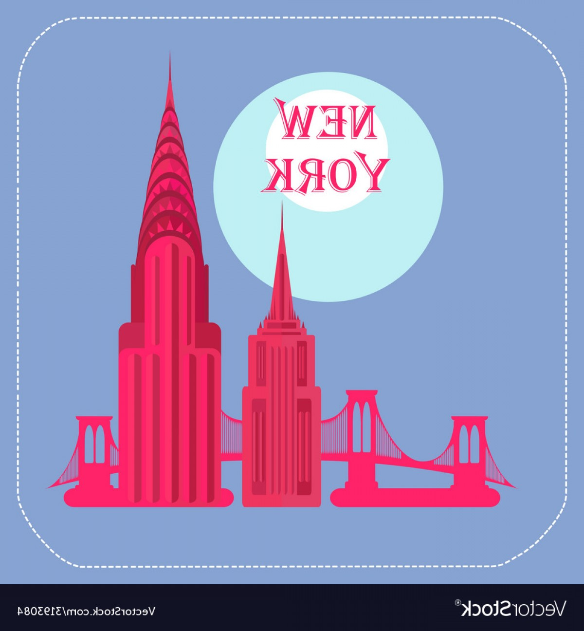 1200x1296 New York Empire State Building Chrysler Building Vector Orangiausa
