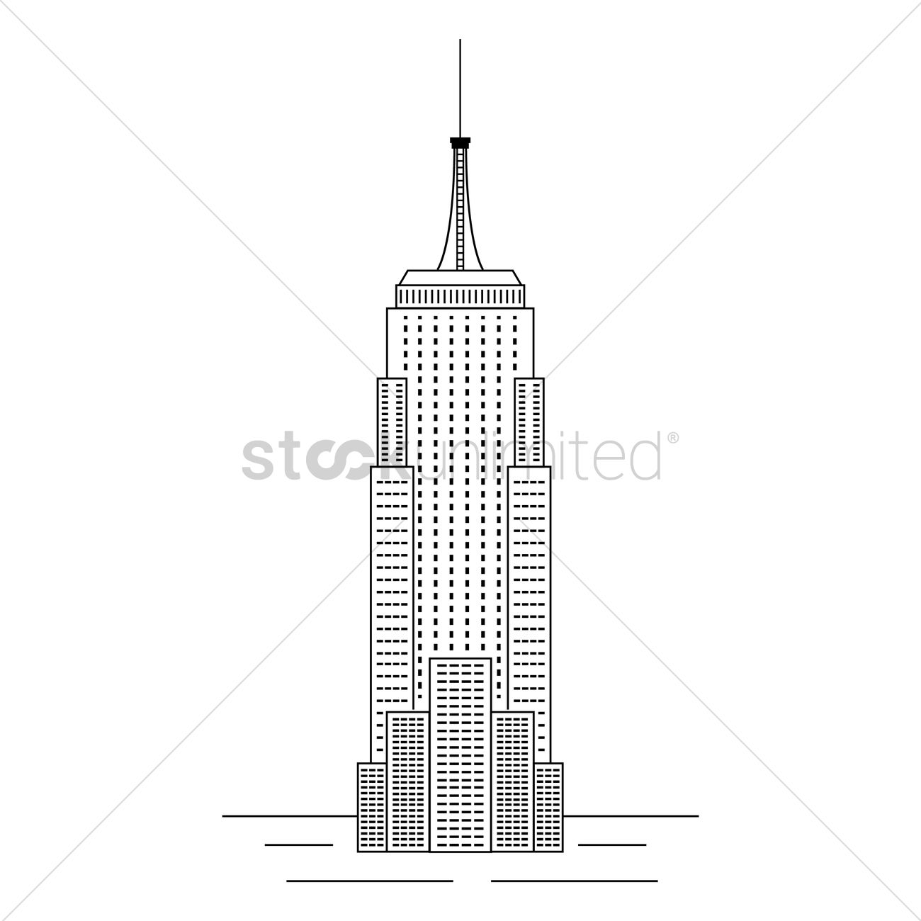 1300x1300 New York Empire State Building Vector Image