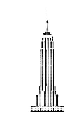 236x388 Skyline Clipart Empire State Building