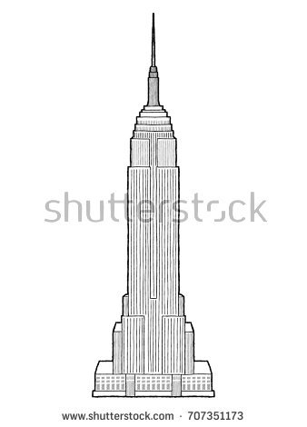 338x470 Collection Of Empire State Building Drawing High Quality