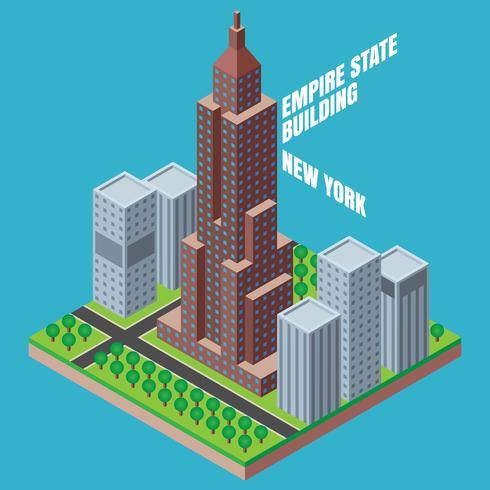 490x490 Empire State Building New York Isometric Illustration