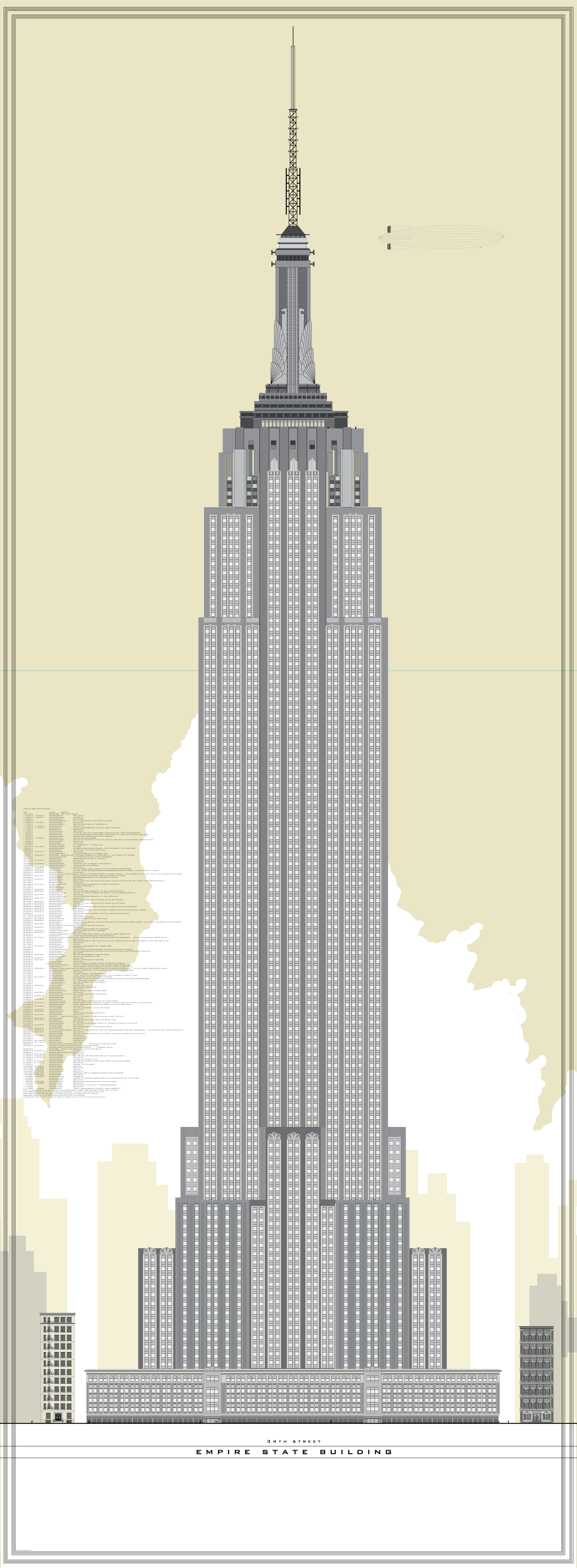 1600x4348 Empire State Building Vector In 2018