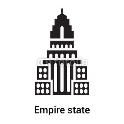 400x400 Empire State Icon Vector Sign And Symbol Isolated On White