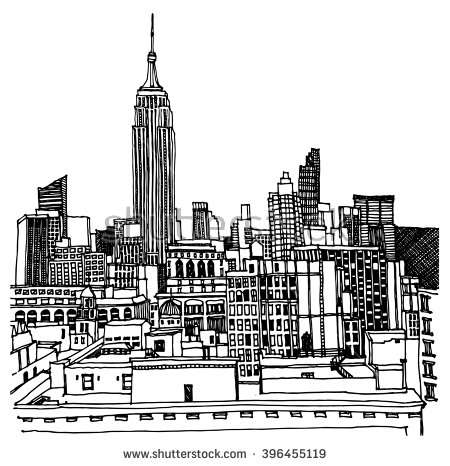 450x466 How To Draw The Empire State Building Beautiful Scene Street