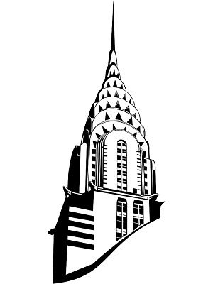 300x400 Empire State Building Drawing