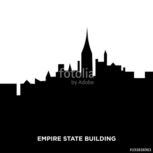 500x500 Empire State Building Silhouette Stock Image And Royalty Free