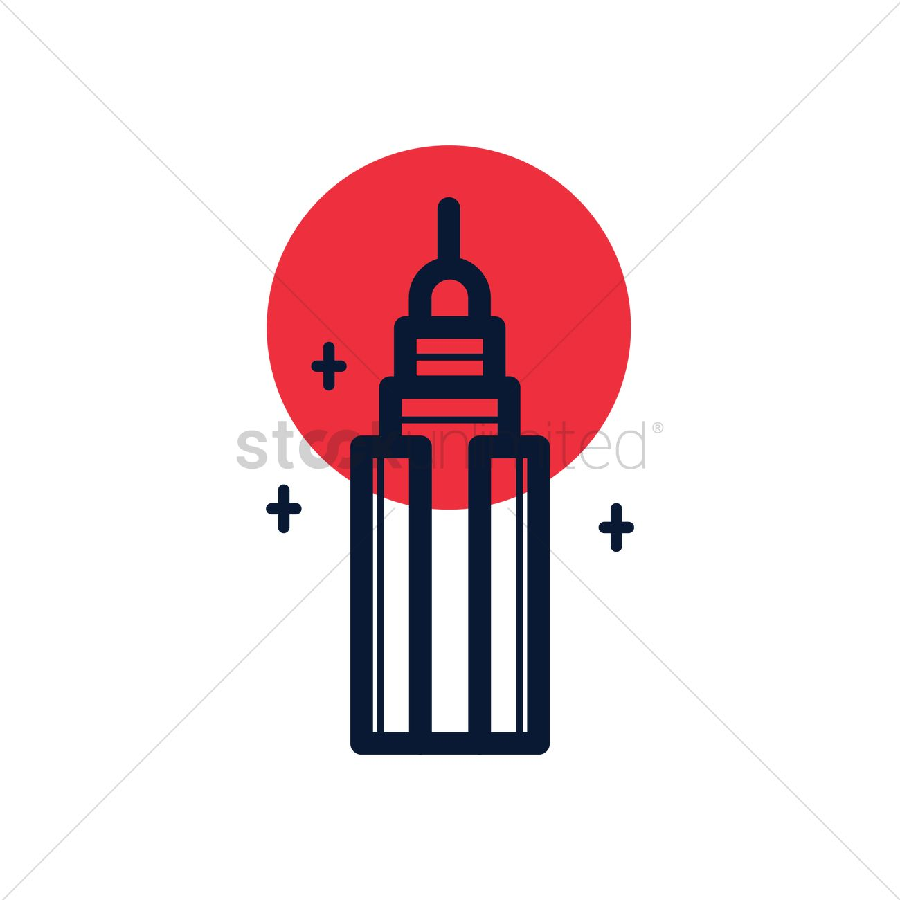 1300x1300 Free Empire State Building Vector Image