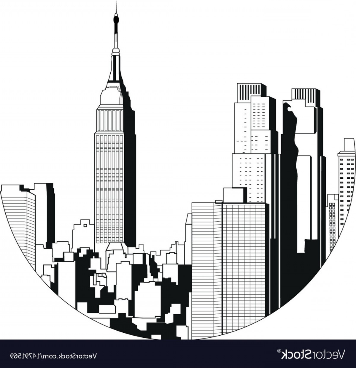 1200x1240 New York City View Empire State Building Vector Sohadacouri