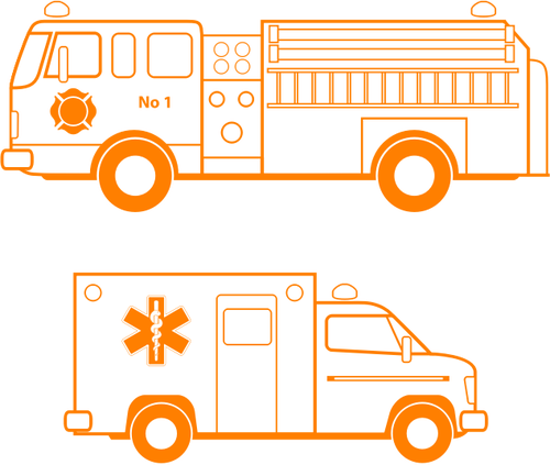 500x423 Emergency Service Vehicle Vector Image Public Domain Vectors