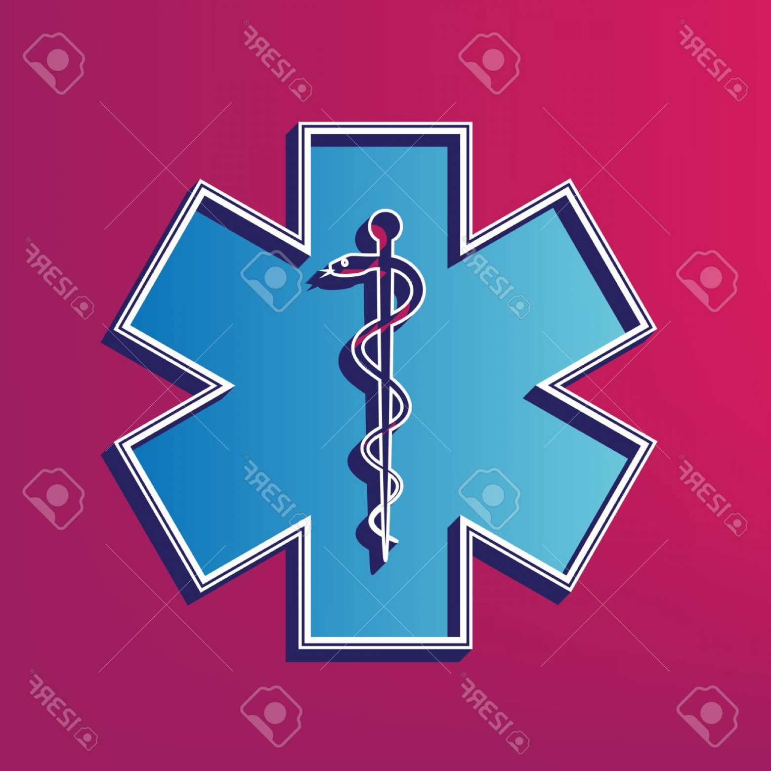 1560x1560 Ems Star Of Life Vector Lazttweet