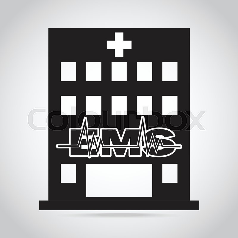 800x800 Hospital And Ems Sign Icon, Medical Sign Concept Stock Vector