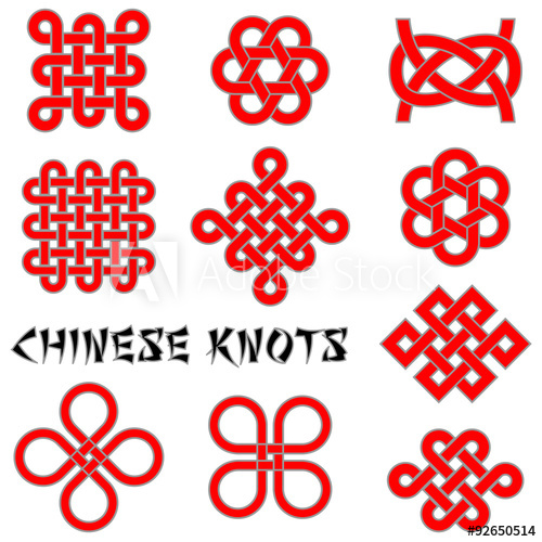 500x500 Chinese Knots (Clover Leaf, Flower Knot, Endless Knot, Etc