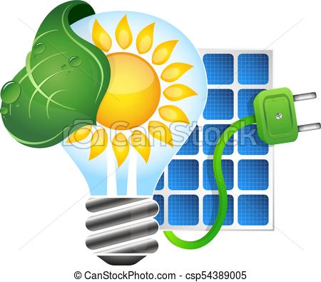 450x395 Electricity From Solar Energy Symbol Vector.