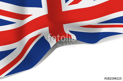 500x331 Great Britain Flag, United Kingdom Flag Vector Icon Stock Image