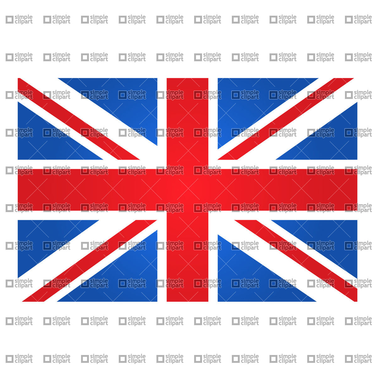 1200x1200 Great Britain Flag Vector Image