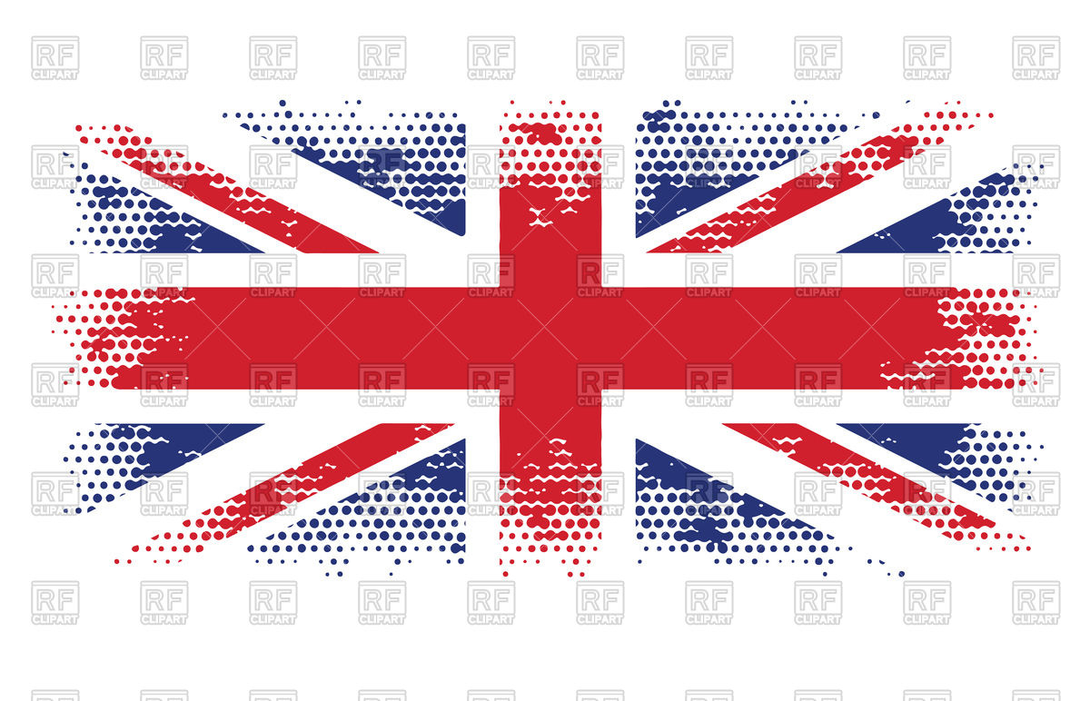 1200x772 Great Britain Flag Halftone Vector Image Vector Artwork Of Signs