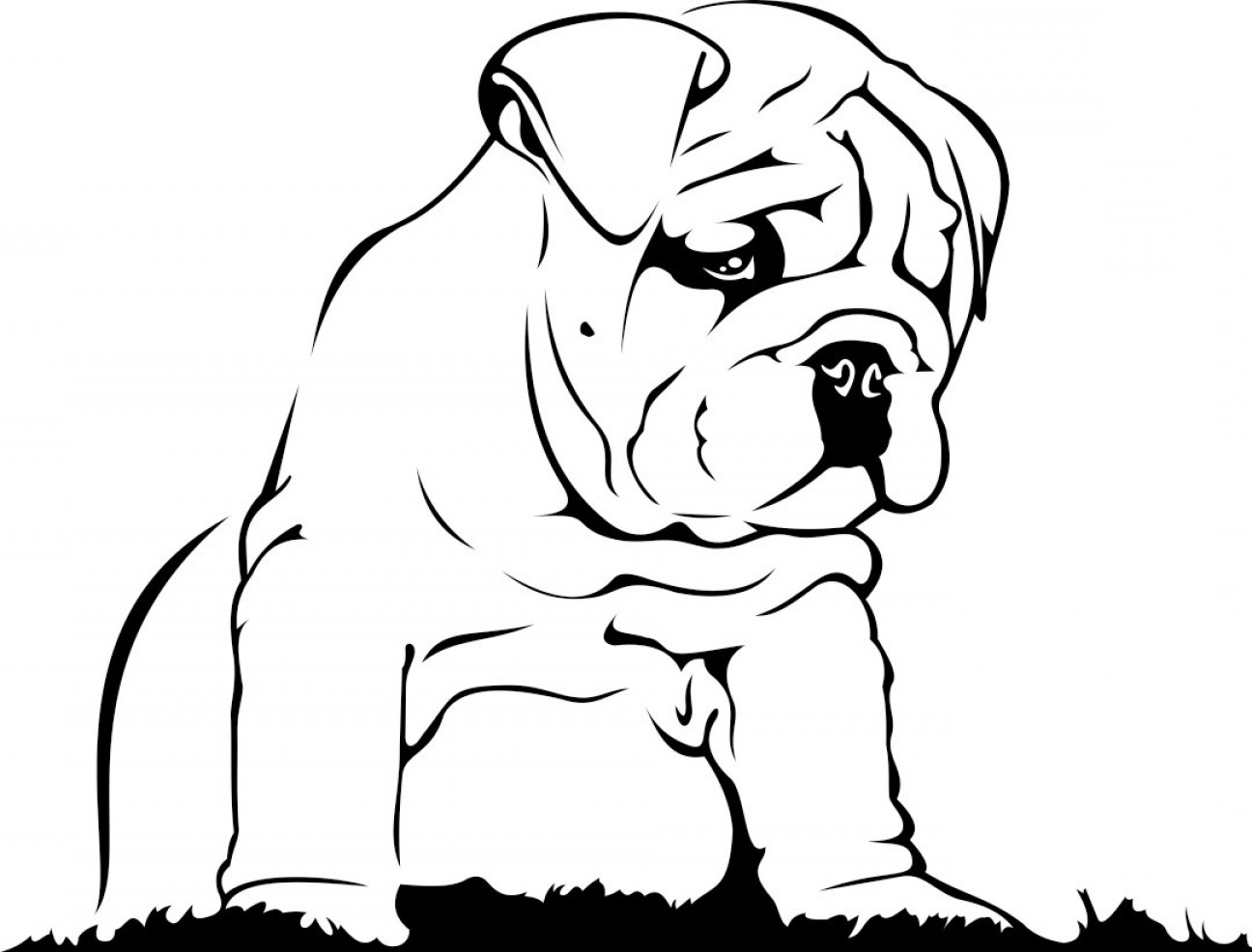 1296x986 English Bulldog Graphics Design Svg Dxf Eps Png Cdr Ai Pdf Vector