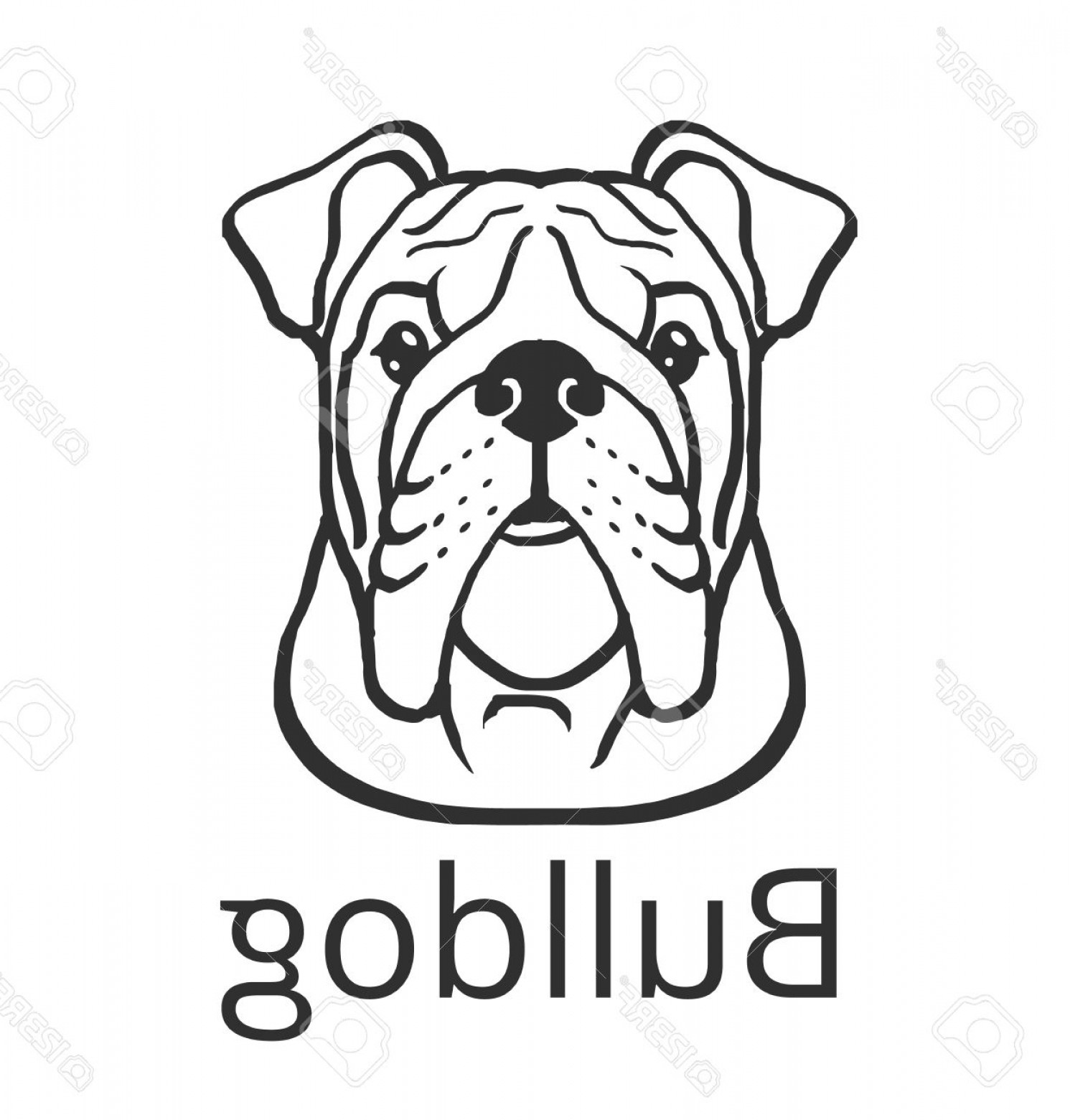 1491x1560 Photostock Vector Bulldog Black Vector Icon Illustration Orangiausa