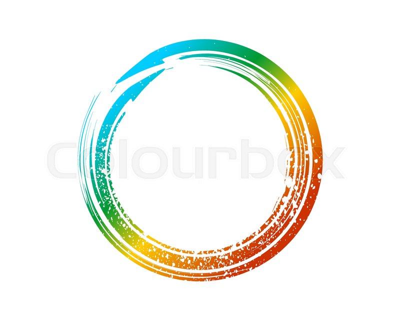 800x640 Enso Zen Symbol Fountain Colors. Enso Zen Circle Stock Vector